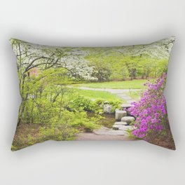 Asticou Azelea Garden In Spring Photograph on Mount Desert Maine Rectangular Pillow