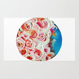 Roses on Fire Rug