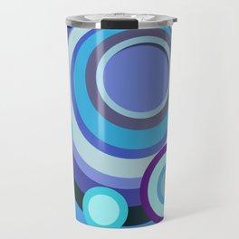 Blue/Purple Mosaic Crop Circle Travel Mug