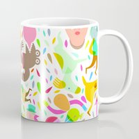 party Mugs featuring Party! by Judy Kaufmann