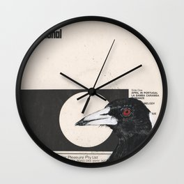 His Master's Voice - Magpie Wall Clock