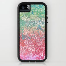 Soft Pastel Rainbow Doodle Adventure Case iPhone (5, 5s)