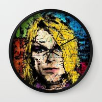 kurt cobain Wall Clocks featuring Nevermind Kurt  by brett66