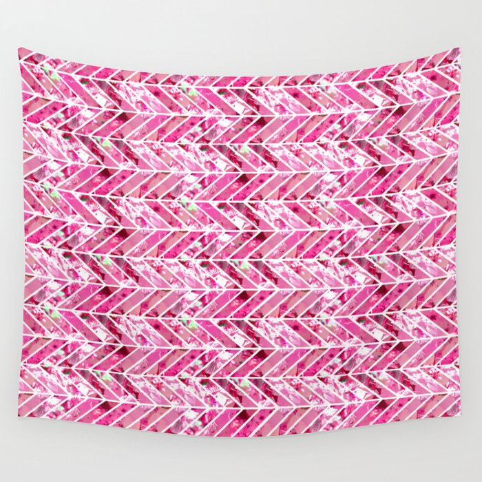 Cherry Bomb Chevron Wall Tapestry