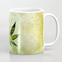 marijuana Mugs featuring Marijuana Leaf - Design 3 by Spooky Dooky