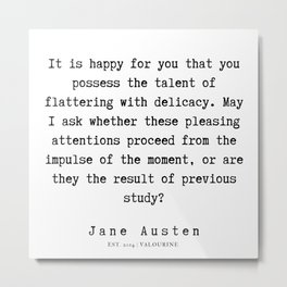 96    | Jane Austen Quotes | 190722 Metal Print