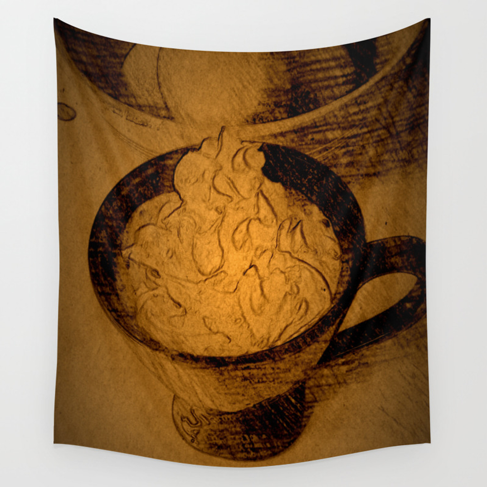A Fancy Cuppa Dppa150510a Wall Tapestry by Csteenart TPS6759529