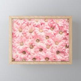 Lovely Pink Daisies Framed Mini Art Print