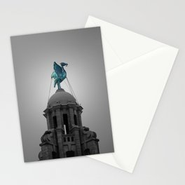 Liverbird in Piercing Blue Stationery Cards