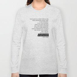 pale blue dot Long Sleeve T-shirt