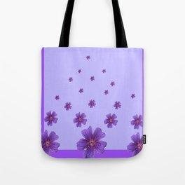 RAINING PURPLE FLOWERS LILAC COLLAGE ART Tote Bag
