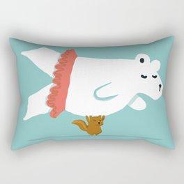 You Lift Me Up - Polar bear doing ballet Rectangular Pillow