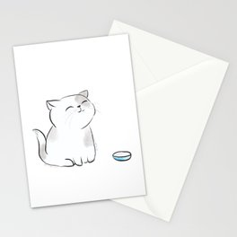 Feed me, Human. Stationery Cards