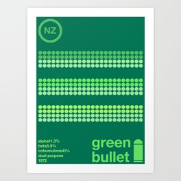 green bullet single hop Art Print