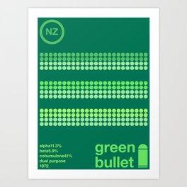 green bullet single hop Art Print