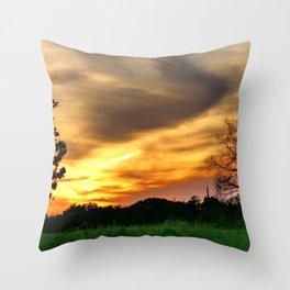 April East Texas Sunset Throw Pillow