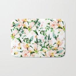 Flowered Bath Mat