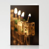 jewish Stationery Cards featuring Chanukah (Hanukkah) Menorah - Jewish Holiday by allisonpink