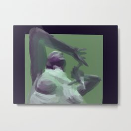 Green and Purple Figure Painting Metal Print