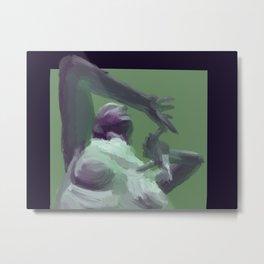 Green and Purple Figure Painting Metal Print