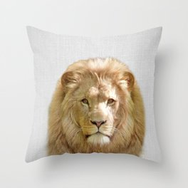 Lion - Colorful Throw Pillow