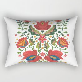 Folk Embroidery Rectangular Pillow