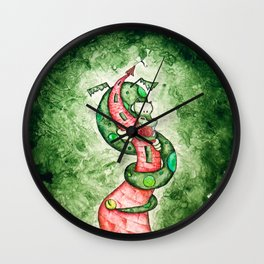 The Dragon and The Tower Wall Clock