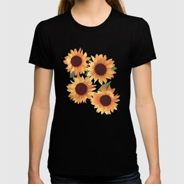 Happy Orange Sunflowers T-shirt