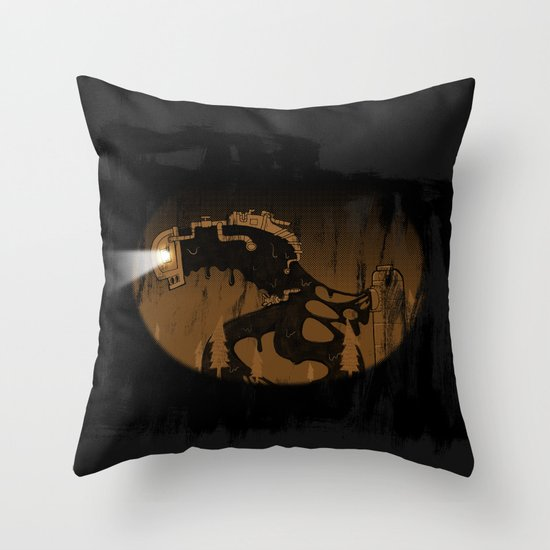 oil monster Throw Pillow