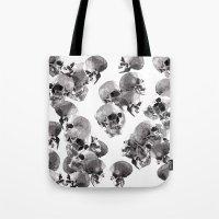 skulls Tote Bags featuring Skulls by Rik Reimert