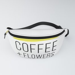 Coffee And Flowers - Yellow Fanny Pack