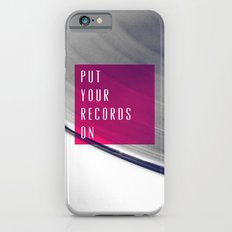 Records - Pink Slim Case iPhone 6s
