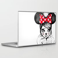 minnie mouse Laptop & iPad Skins featuring Minnie by theavengerbutterfly