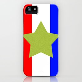 Design4 Red White and Blue iPhone Case