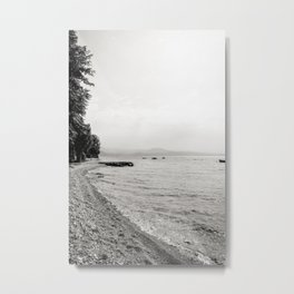 Misty Beach Metal Print
