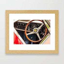Behind The Wheel - Study 10 Framed Art Print