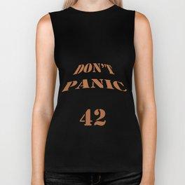 DON'T PANIC of 42 Biker Tank