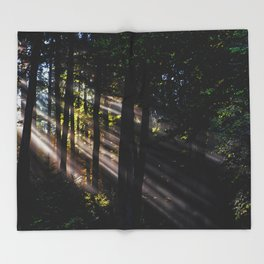 Pathless Woods #spring #forest Throw Blanket