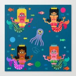 Mermaid Sisters Canvas Print