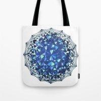 snowflake Tote Bags featuring Snowflake by LDBEAN