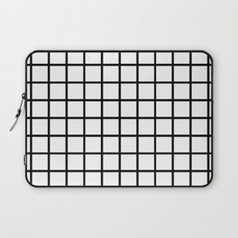 Simply Minimalistic Grid Line Pattern - Black & White - Mix & Match  with Simplicity of Life Laptop Sleeve