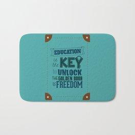 Lab No. 4 Education Is the Key George Washington Carver Inspirationa Quote Bath Mat