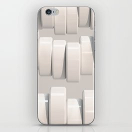 Pattern of white cylinders iPhone Skin