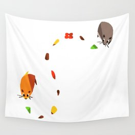 Hammy food trail Wall Tapestry