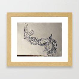 Olifantje kunst Framed Art Print