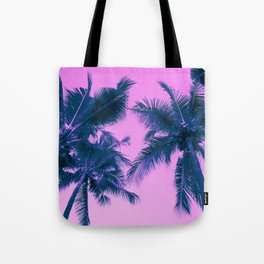 Palm Trees Pink Tote Bag
