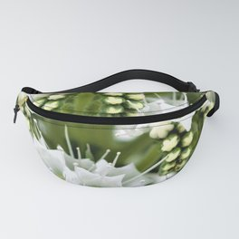 White petals like Snowflakes by Reay of Light Fanny Pack