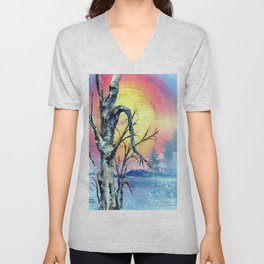 Misty Morning by Maureen Donovan Unisex V-Neck