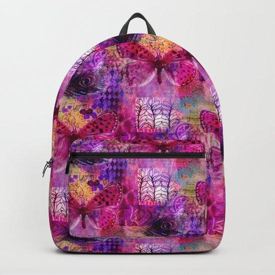 Butterflies Dream In Pink Backpack