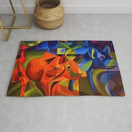 The Pigs by Franz Marc Rug